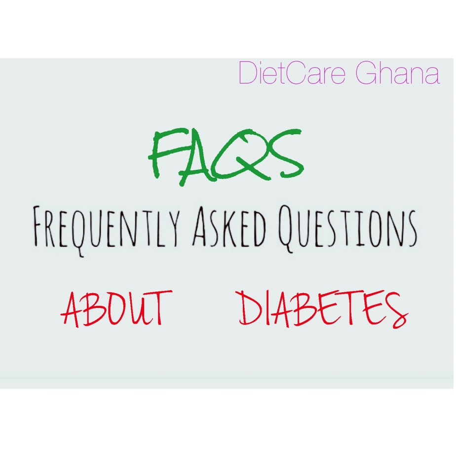 FAQS: Frequently Asked Questions About Diabetes.